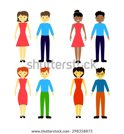 People icons.  - stock vector