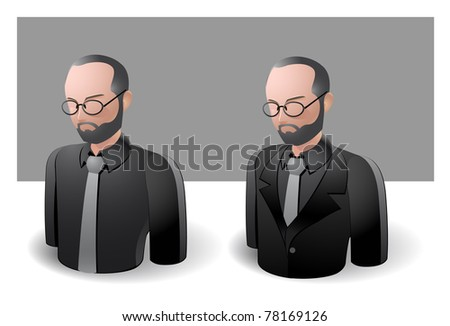 people icons : businessman male no.3 - stock vector