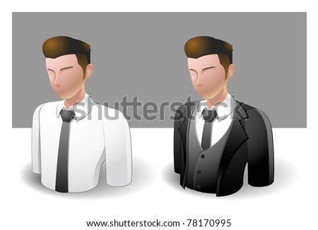 people icons : businessman male no.5 - stock vector