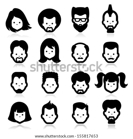 People Icons four - stock vector