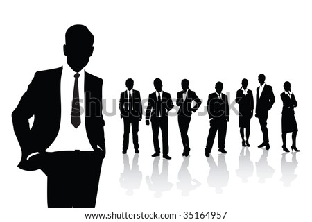 people in business - stock vector