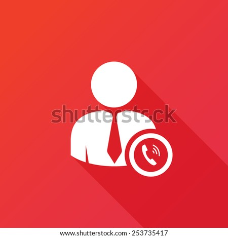 People - man, person with a telephone receiver. Businessman with a phone - stock vector