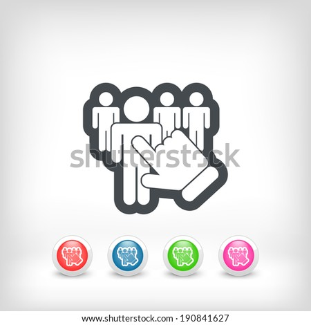 People selection icon - stock vector