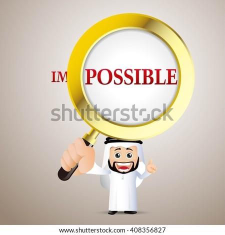 People Set - Arab  - Businessman. It is possible - stock vector