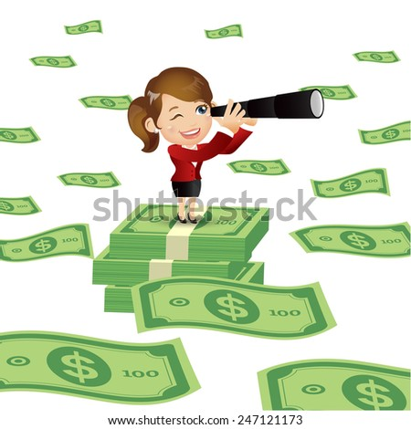People Set - Business - Foresee. Businessman. Bill - stock vector