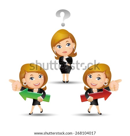 People Set - Business - Selection. Businesswoman - stock vector