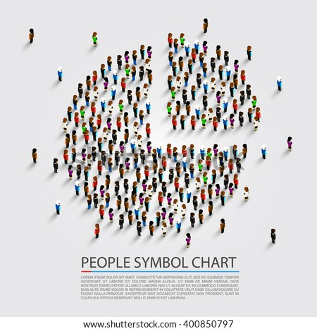 People sign chart, People cover, Vector illustration - stock vector