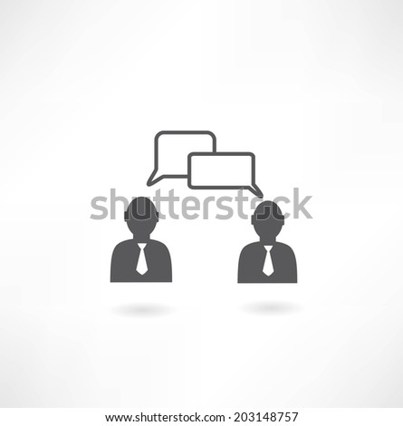 people talking icon - stock vector