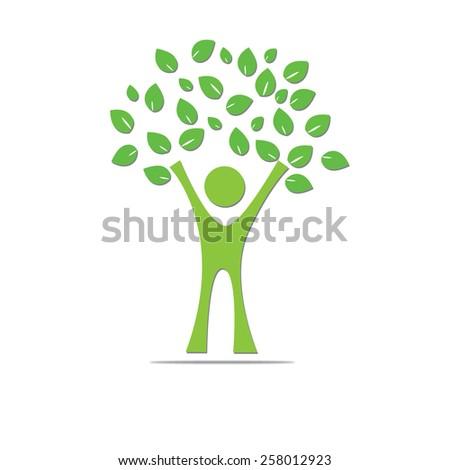 People tree - stock vector