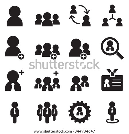 people , user, businessman , avatar icons set - stock vector