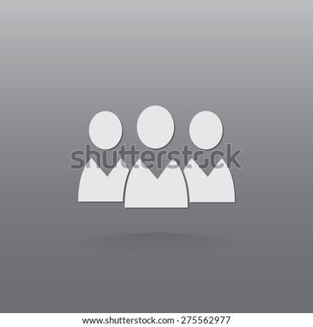 People vector icon  - stock vector