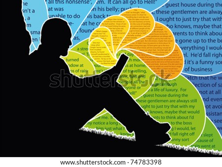 People who read - stock vector