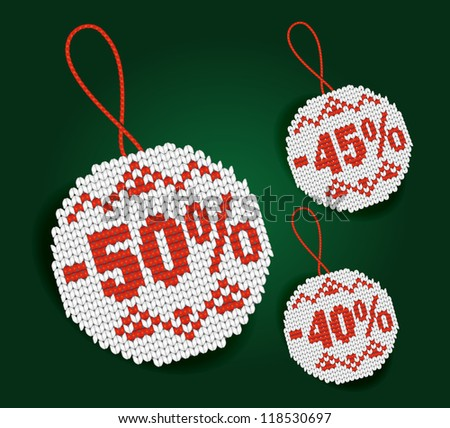 Percent price tags - stock vector