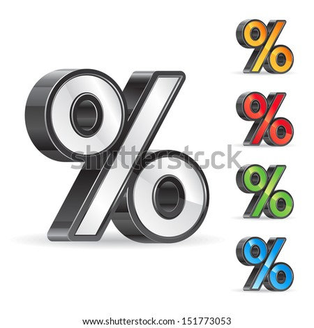 percent sign - stock vector