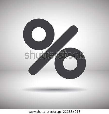percent sign vector icon - stock vector