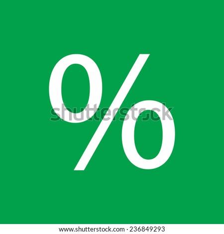 percent vector icon - stock vector