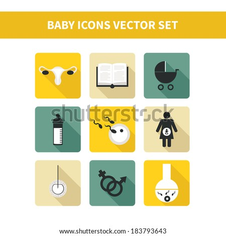 Perfect detailed baby icons made in vector - stock vector