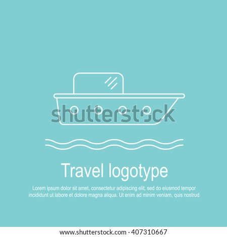 Perfect linear flat design and simple logotype or icon of trip topic. The best for travel apps, print, advertising, illustration or infographic. - stock vector