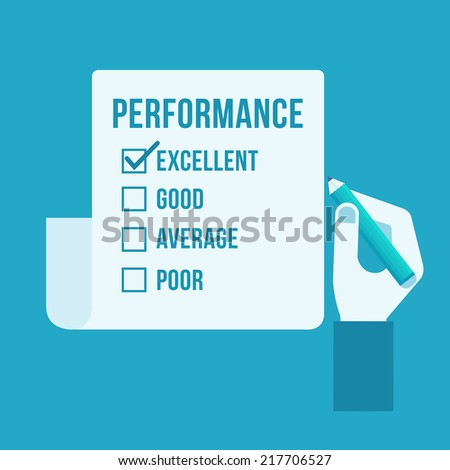 Performance evaluation form  - stock vector