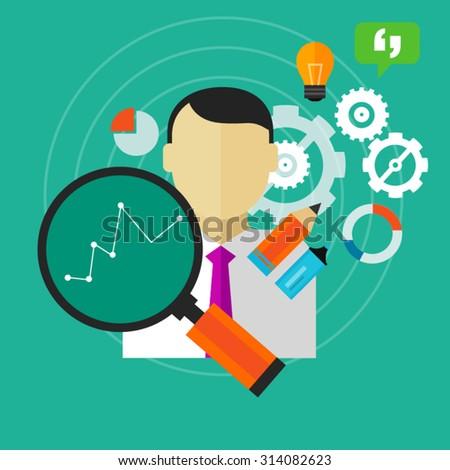 performance improvement monitoring human resource key performance indicator kpi - stock vector