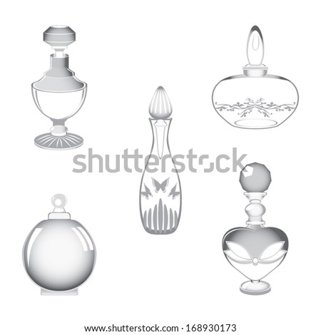 Perfume containers vector - stock vector