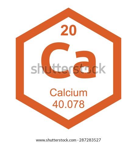 Periodic table Calcium - stock vector