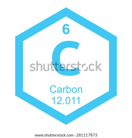 Periodic table carbon - stock vector