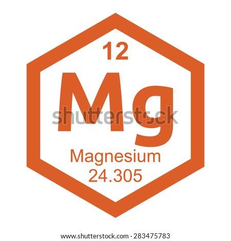 Periodic table Magnesium - stock vector