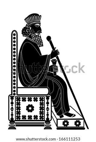 Persian king - stock vector