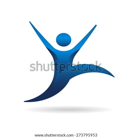 Person in motion action - stock vector