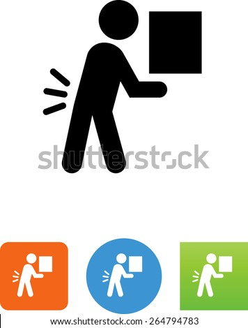 Person lifting a heavy object.  - stock vector