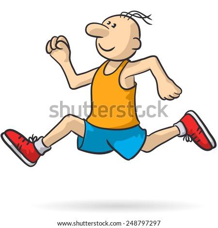 person running - stock vector