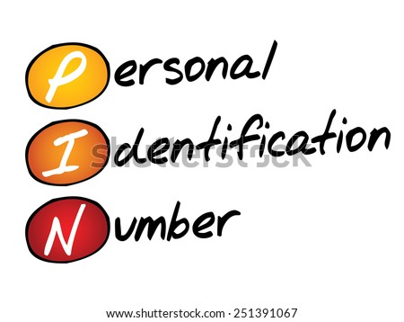 Personal Identification Number (PIN), business concept acronym - stock vector