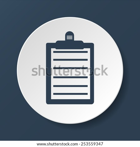 Personal organizer- to do list. Vector icon illustrator - stock vector