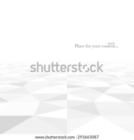 Perspective abstract background with white geometric shapes. Vector illustration - eps10. - stock vector