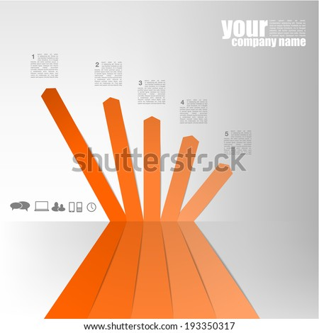 Perspective Chart - stock vector