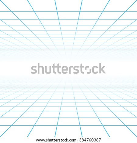 Perspective grid background vector illustration - stock vector
