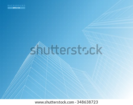Perspective of building  business office vector design  - stock vector