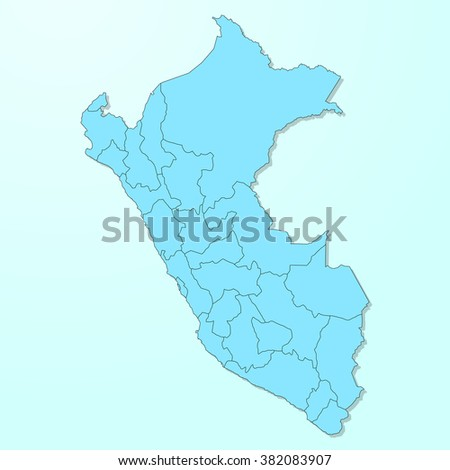 Peru blue map on degraded background vector - stock vector