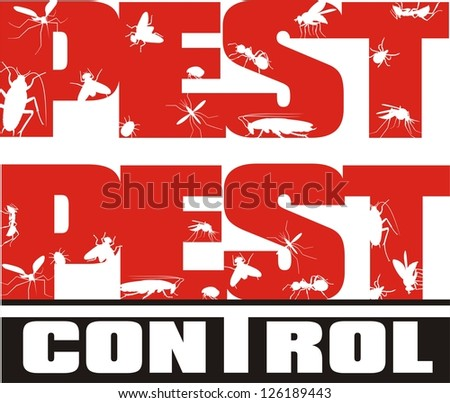 pest control - insects - stock vector