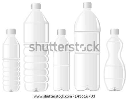 pet bottle bottle of water - stock vector