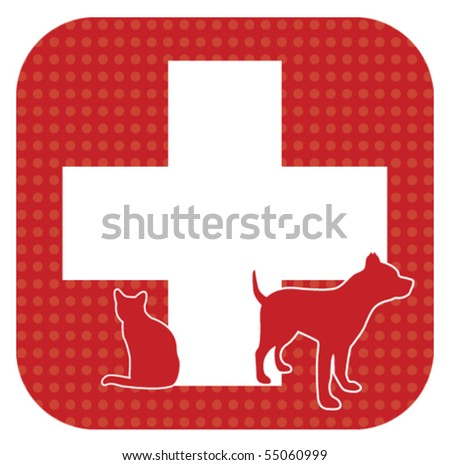 Pet First Aid Bling - stock vector
