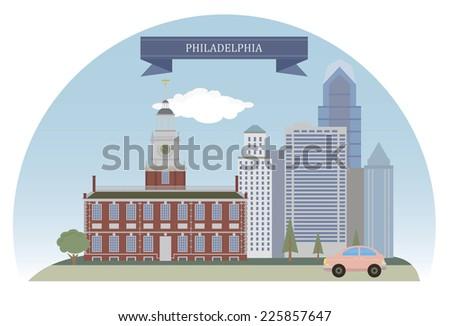 Philadelphia, USA - stock vector