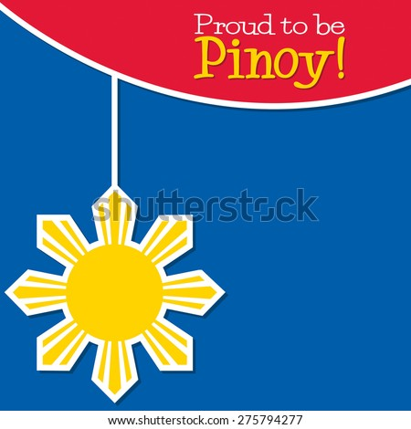 Philippine Independence Day card in vector format. - stock vector