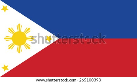 Philippines Flag for Independence Day and infographic Vector illustration. - stock vector
