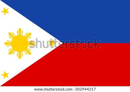 philippines flag vector - stock vector