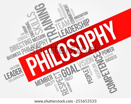 Philosophy word cloud, business concept - stock vector