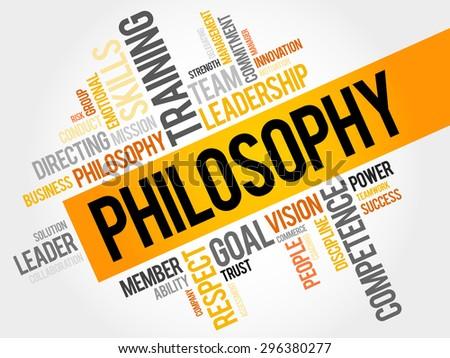 Philosophy word cloud, business concept - stock vector