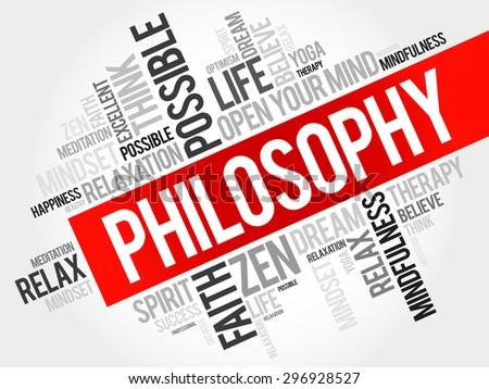 Philosophy word cloud concept - stock vector