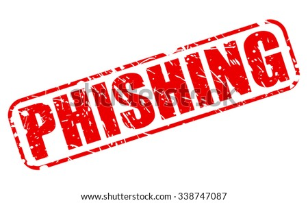 PHISHING red stamp text on white - stock vector